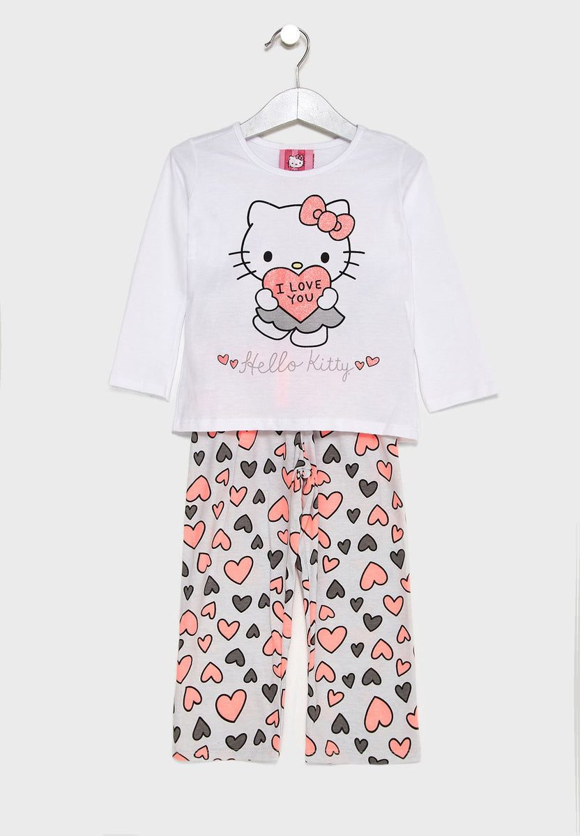 8c265789b HELLO KITTY Kids Logo Printed Pyjama Set – Dukakeen.com
