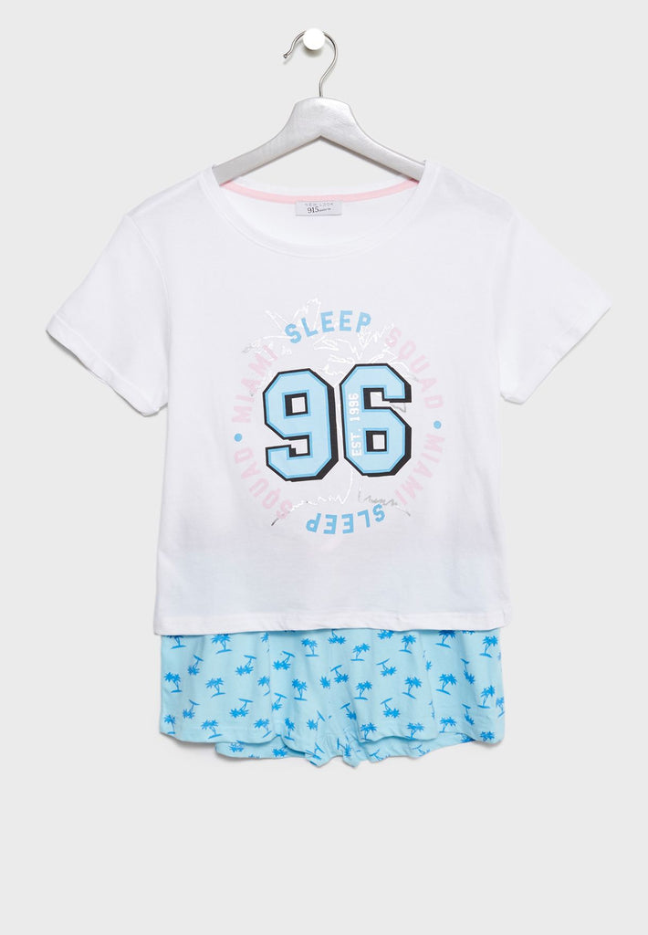 NEW LOOK Teen T-Shirt + Shorts Set