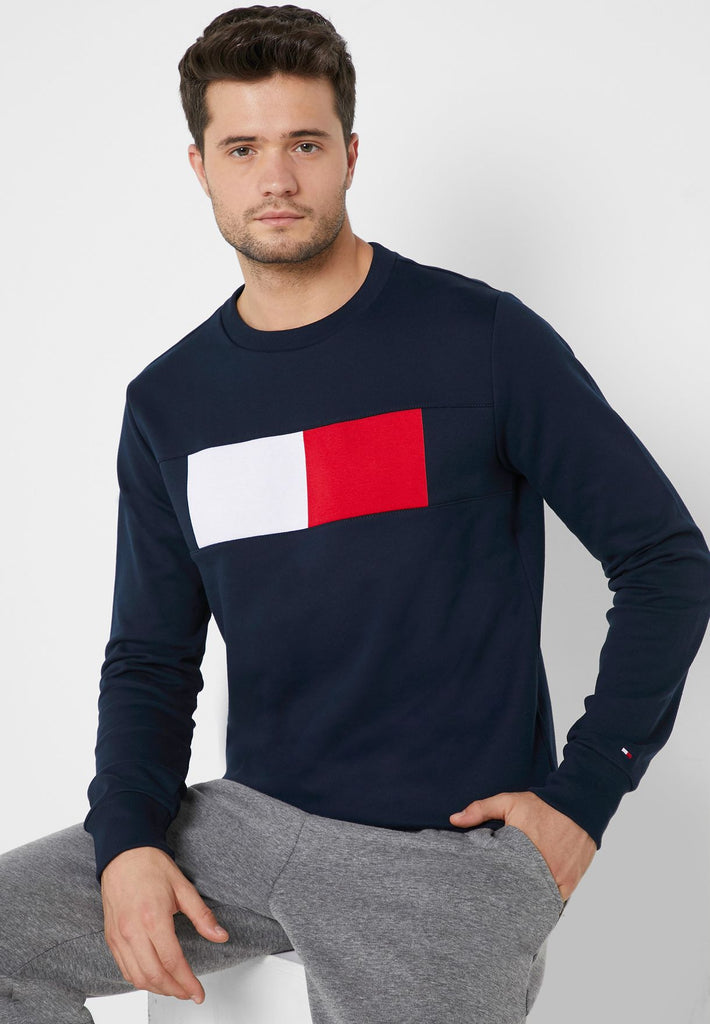 TOMMY HILFIGER Chest Logo Flag Sweatshirt