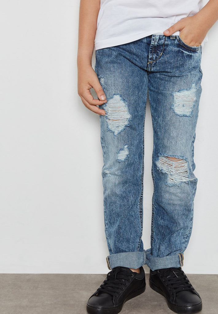 MSGM Little Ripped Jeans