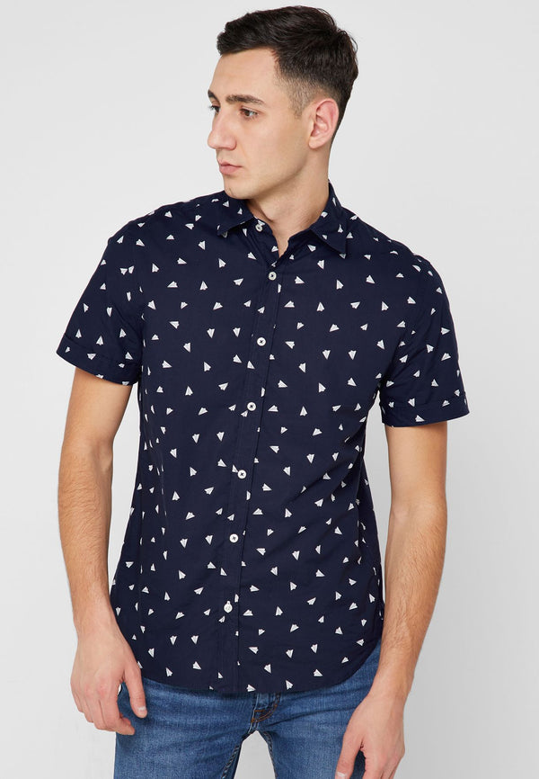 MANGO MAN  Printed Regular Fit Shirt