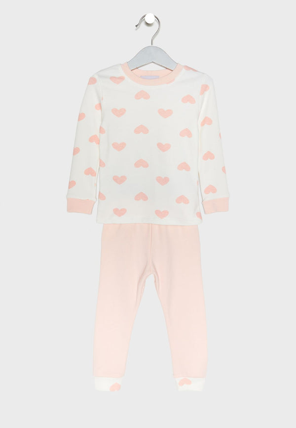 LOUNGE DISTRICT  Love Print Pyjama Set