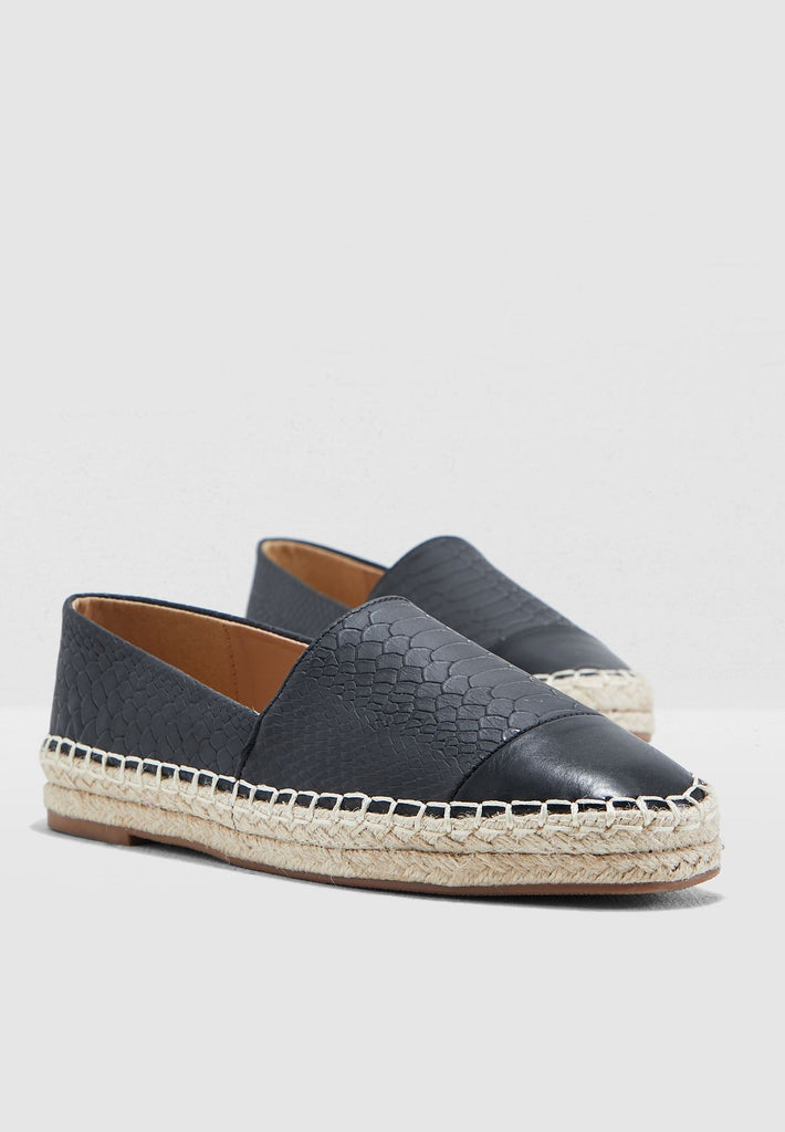 Espadrilles In Mock Croc
