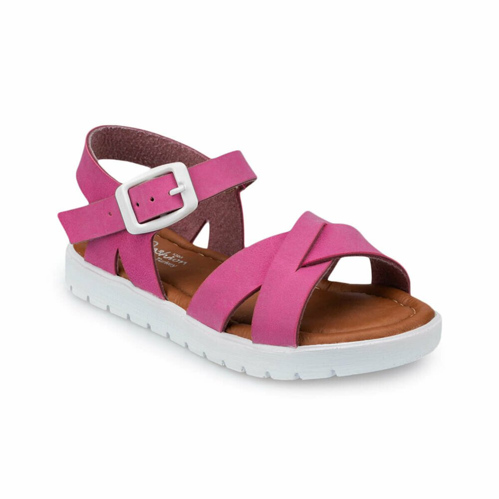 Fuchsia sandal with girls lock