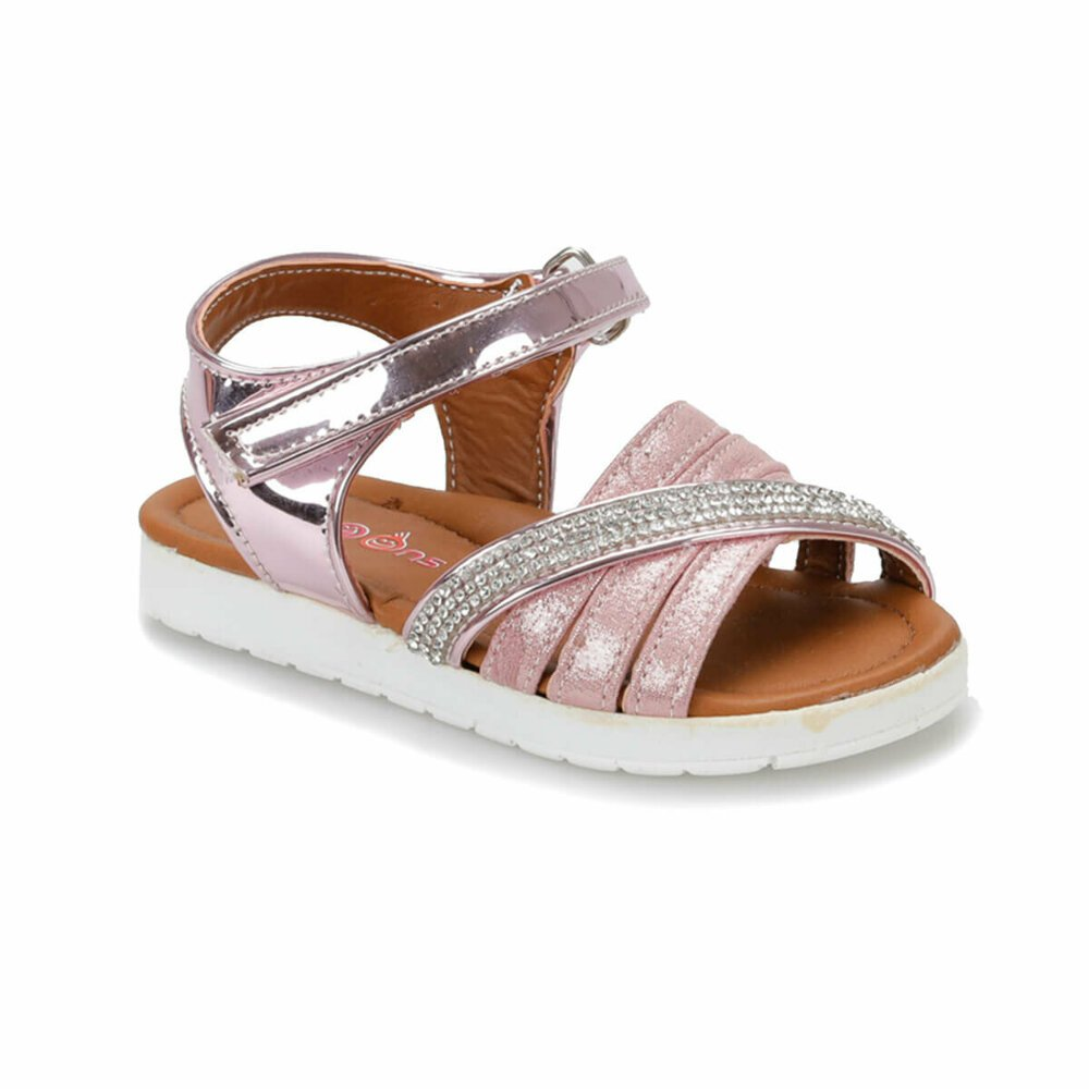 Girls shiny pink sandal