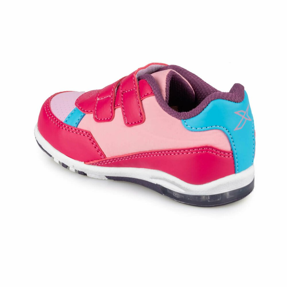 Fuchsia Sneakers with velcro strap pointers