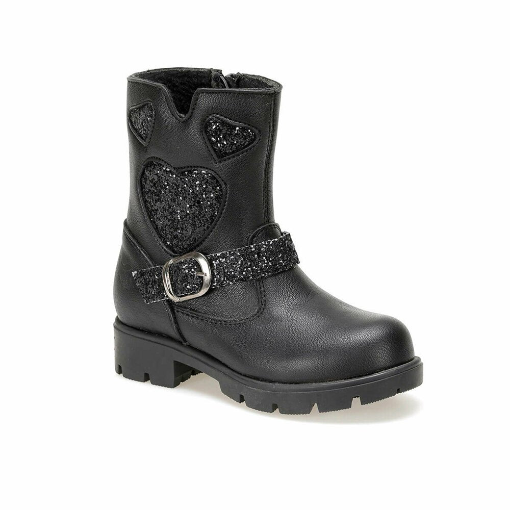 Girls black casual boot