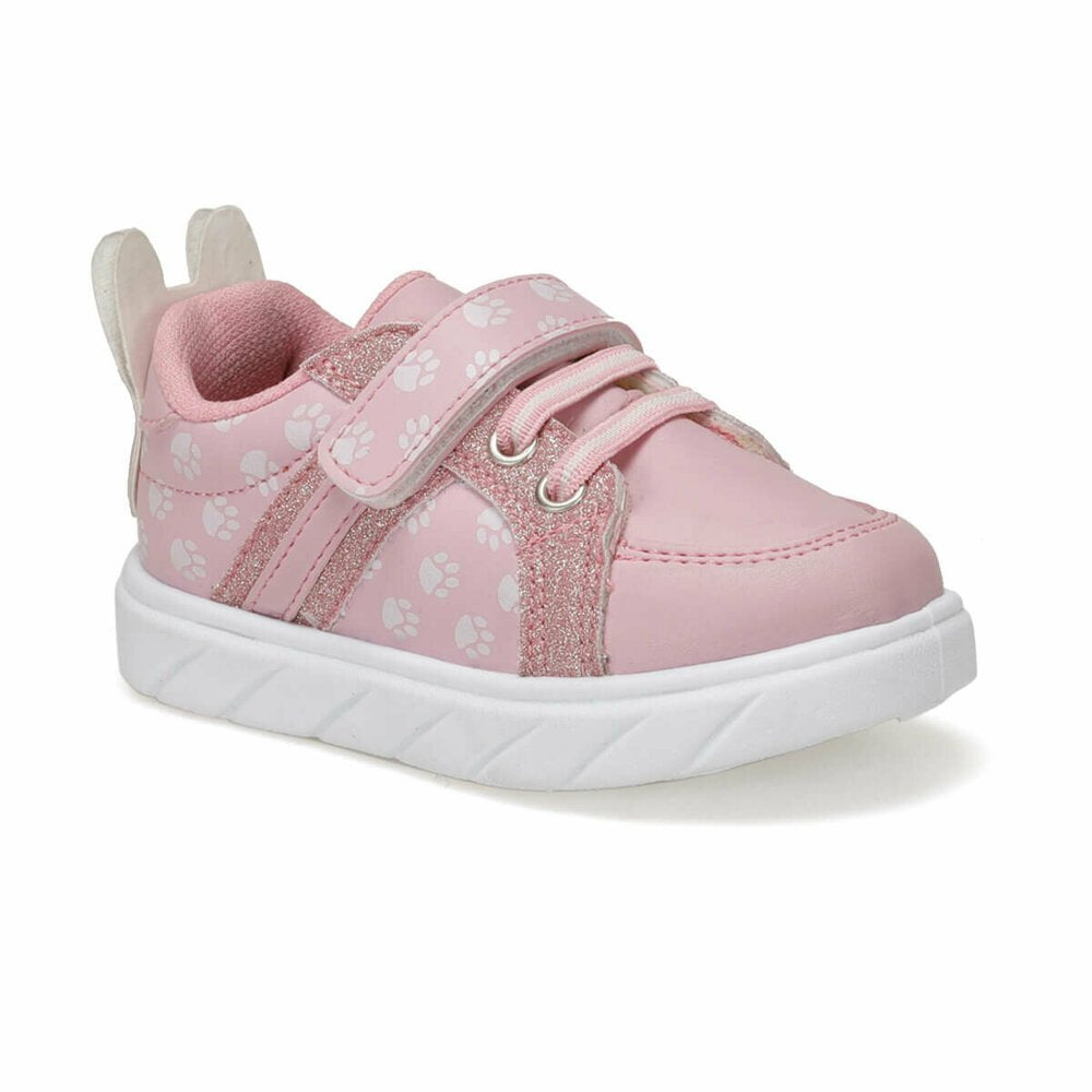 Pink girls sneakers decorated