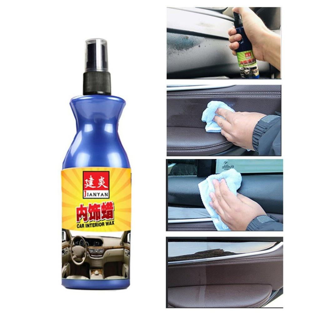 100ml Car Polish Wax Plastic Leather Retreading Agent Automotive Interior Cleaner Tire Wax Paint Household Bag Cleaning Agent