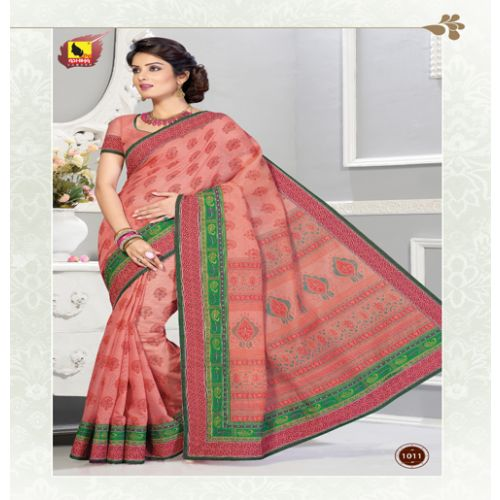 Mayuri-New Fancy Muti Colour Cotton Saree