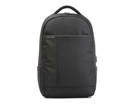 "Kingsons Charged Series 15.6"" smart backpack(Black) (With USB Port) K9007W"