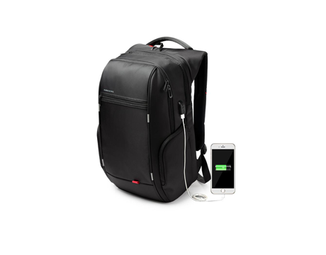 "Kingsons  Charged Series 15.6"" Smart backpack(Black) (With USB Port) K3140W"