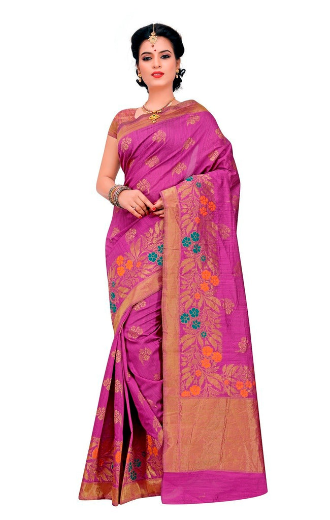 Silk Banarasi Saree With Blouse