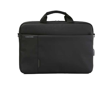 "Kingsosn Smart Shuolder Bag 15.6"" - (Black) (With USB Port) K9008W"