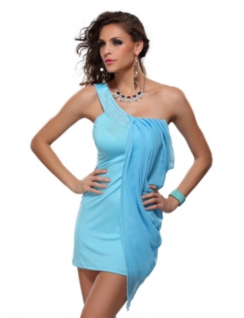 Free Size Blue Short Dress For Women