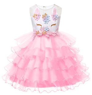 LILAC Unicorn baby girls party dress