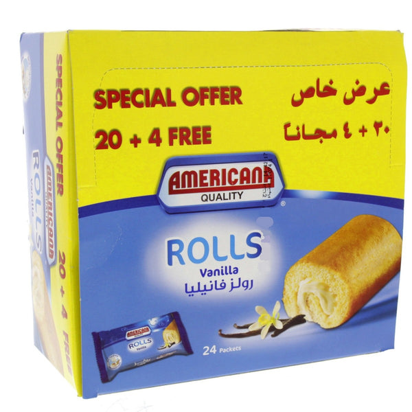 Americana Mini Roll Vanila 20g 20pcs +