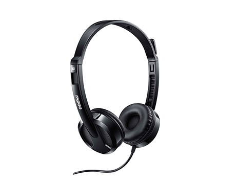 RAPOO HEADSET WIRED USB H120 - BLACK