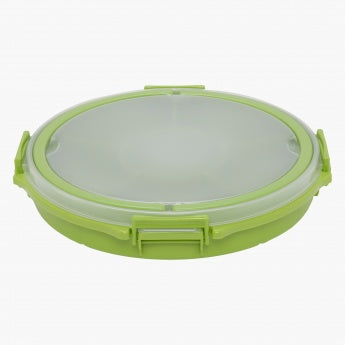 Round Tray with 6 Compartments and Air Tight Lock Lid
