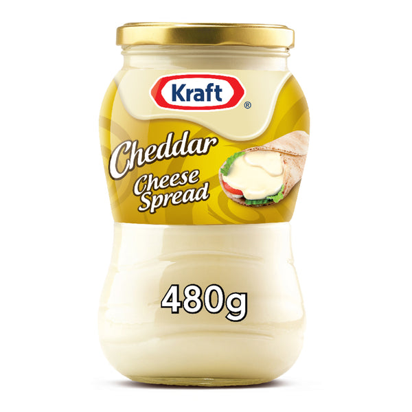 Kraft Cheddar Cheese Spread Original Jar 480g