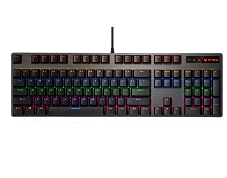 RAPOO VPRO GAMING KEYBOARD WIRED MECHANICAL BACKLIT V500 PRO - BLACK