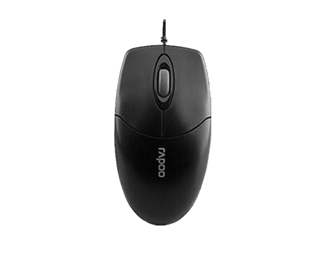 RAPOO MOUSE WIRED USB N1020-Black