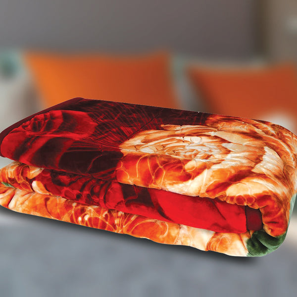 Golden Wheat Blanket Embossed Assorted Colors 200x240cm