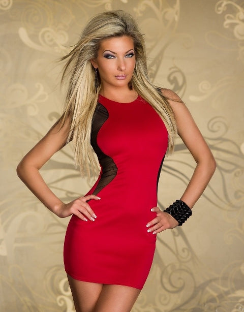 Free Size Red Short Dress For Women