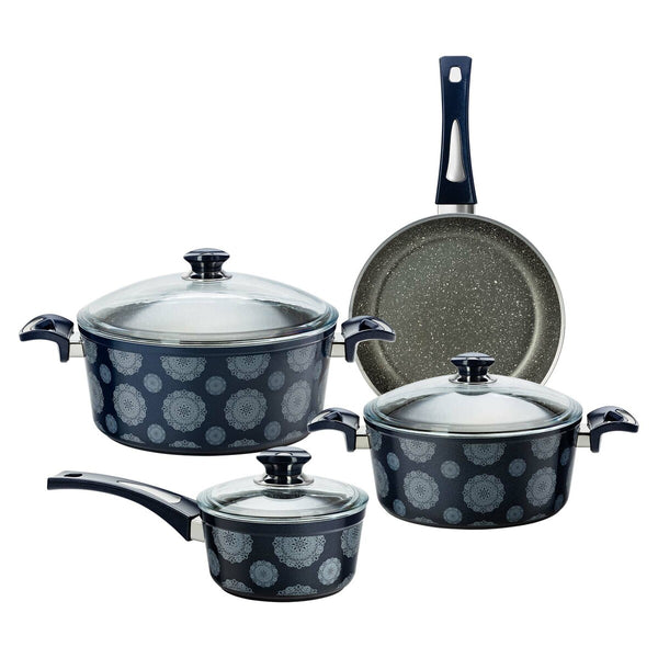 Fatafeat Cookware Set 7pcs Set Blue FT-7PS-B