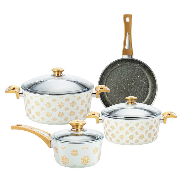 Fatafeat Cookware Set 7pcs Set White FT-7PS-W
