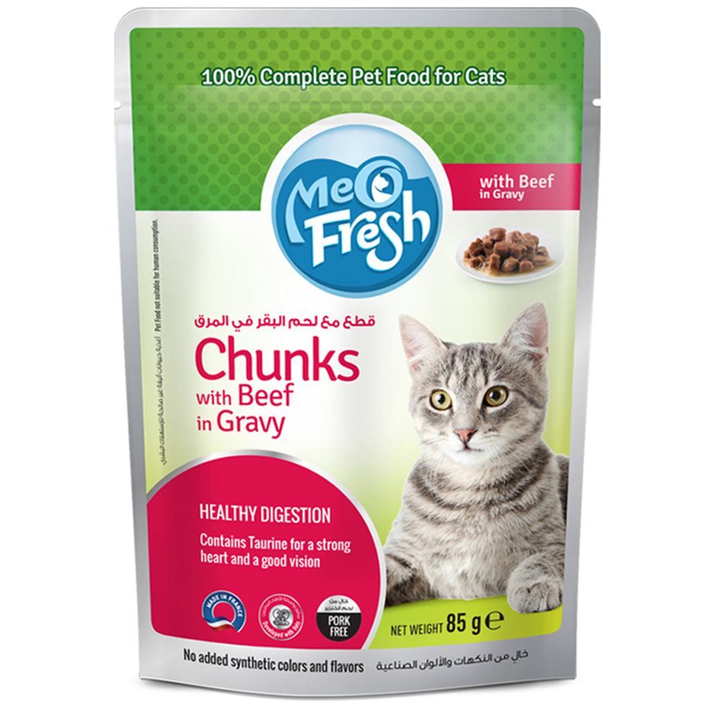 Meo Fresh Chunks with Beef in Gravy 12 × 85 جرام