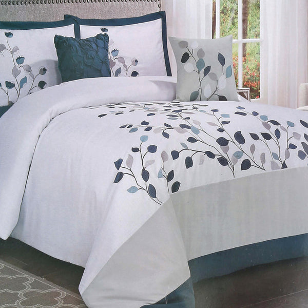 Maple Leaf Comforter Set 6pcs King Assorted Colors