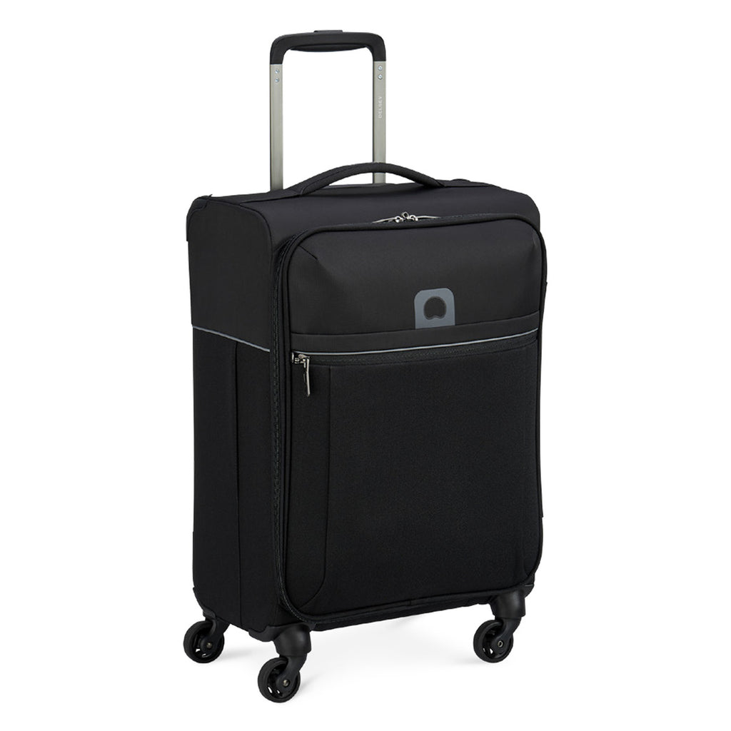 Delsey Brochant 4Wheel Soft Trolley 55cm Black