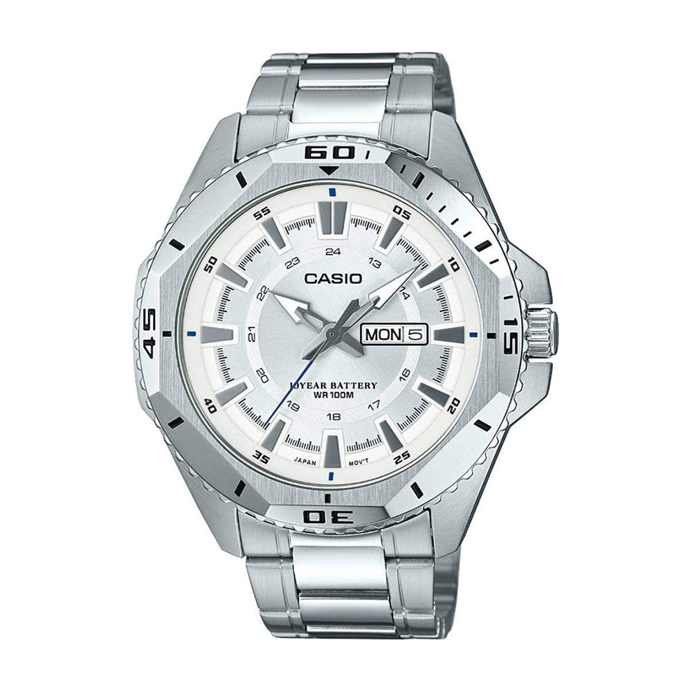 Casio Enticer Analog Silver Dial Mens Watch, MTD-1085D-7AVDF