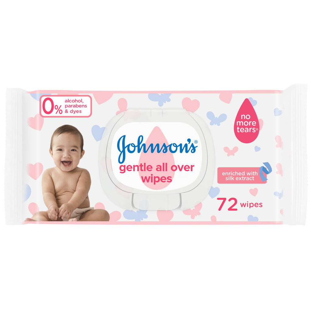 Johnson's Baby Wipes Gentle All Over 72pcs