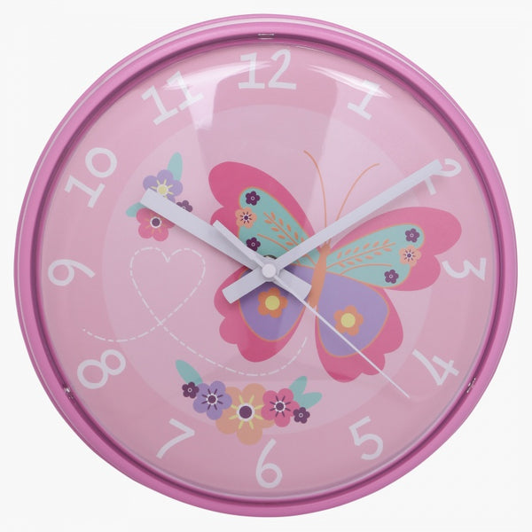 Betty's Butterfly Wall Clock