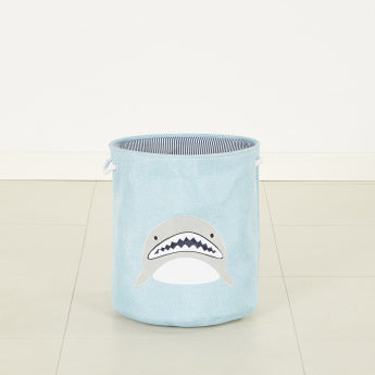 Sammi's Applique Detail Storage Bin with Rope Handle