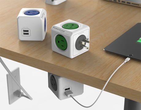 Allocacoc PowerCube Original USB UK; GREEN
