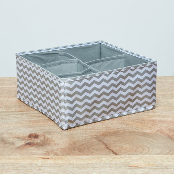 Domino Chevron Printed 5-Section Drawer Organiser