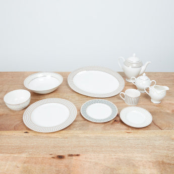 Gridle 47-Piece Printed Dinner Set