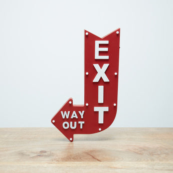 Chuck Wall Mounted Exit Sign