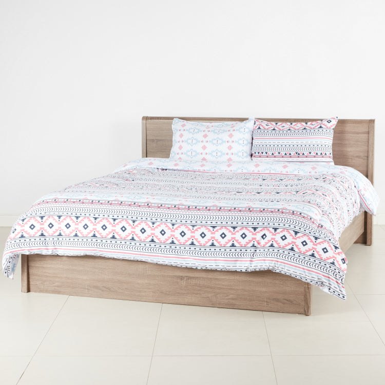 Graphic Printed 3-Piece Full Comforter Set - 240x180 cms