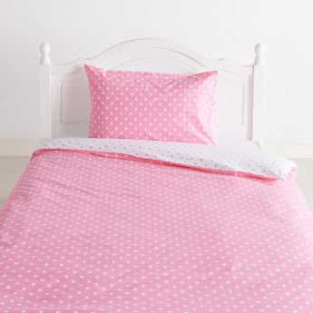 Deena Polka Dot Printed 2-Piece Duvet Cover Set - 160x200 cms
