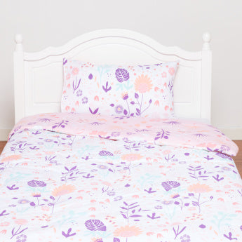 Floral Printed 2-Piece Full Comforter Set - 160x240 cms