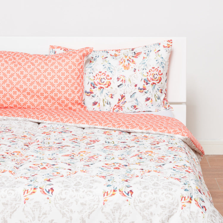 Annie Floral Printed 3-Piece Full Comforter Set - 180x240 cms