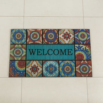 Patina Tiles Printed Doormat - 58x89 cms