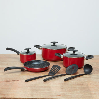 Bergner Alum Ultra 10-Piece Cookware Set