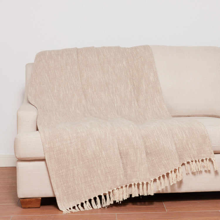 Weldon Textured Throw with Tassels