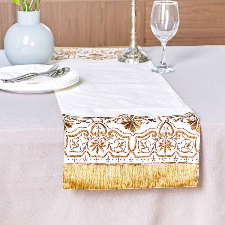 Nadira Embroidered Table Runner