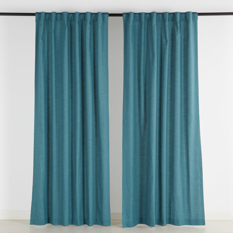 Lola Slub Curtain Pair - 137x240 cms